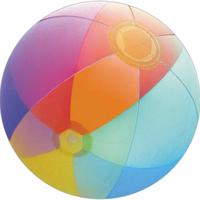"""16"""" Inflatable Transparent Rainbow Shaded Beach Ball"""