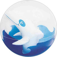 """16"""" Transparent Beach Ball with Inflatable Dolphin Insert"""