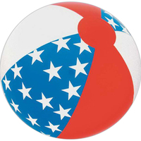 "16"" Inflatable Alternating Star Beach Ball"