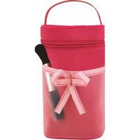 Ribbon Roll Shape Cosmetic Bag w/Handle