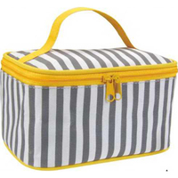 Tone To Tone Stripe Cosmetic Bag