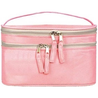 Double Zippered Handy Cosmetic Bag