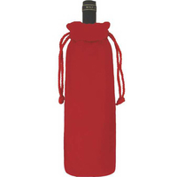 Velvet Tubular Drawstring Pouch/Velvet Wine Bottle Bag