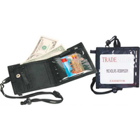 2 in 1 Trade Show Badge Holder/Fold Wallet