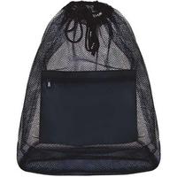 Mesh Drawstring Duffle Bag w/Front Pocket