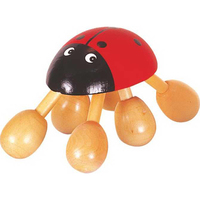 Lady-Bug Wooden Massager
