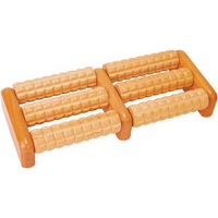 Double Foot Wooden Massager