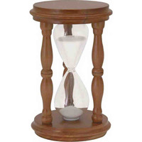 Traditional Sand Timer with Wooden Stand