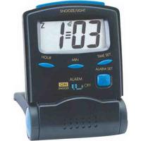 Deluxe Jumbo Size LCD Travel Alarm Clock (Foldable)