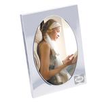 "5"" x 7"" Sweet Memories Oval Shape Chrome Metal Photo Frame"