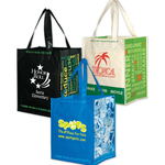 100% Recycled PET Laminated Grocery Tote Bag - Screen Print