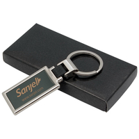 Two tone metal keychain