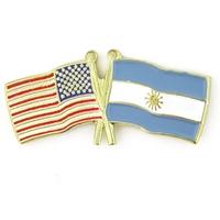 World Flag - USA & Argentina Flag Pin