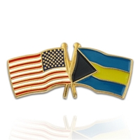 World Flag - USA & Bahamas Flag Pin