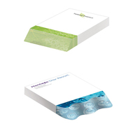 """Eco friendly 4"""" x 6"""" Adhesive Beveled Notepad"""