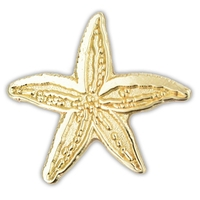 Starfish Lapel Pin - Gold