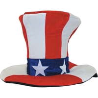 Giant Velvet Uncle Sam Top Hat