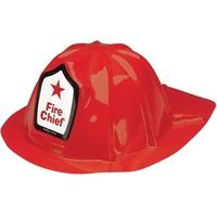 Child's Plastic Fire Chief Hat