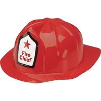 Plastic Fire Chief Hat