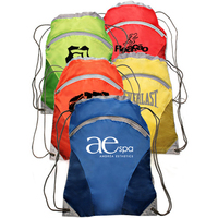 "14.17"" W x 18.5"" H Multisport Drawstring Backpacks"