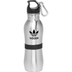 24 oz Stainless Steel with Rubber Grip Bottle