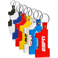 Number One Shape Soft Keychain