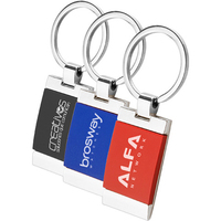 Square Two Tone Keychain