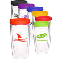 14 oz. Double Wall Color Top Acrylic Tumblers