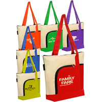 Zipper Polyester Tote Bag