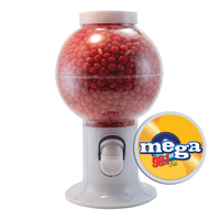 Gumball Machine Dispenser with Cinnamon Red Hots Candy