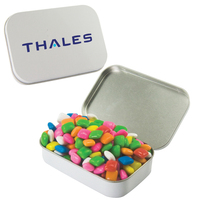 Large Hinged Candy Tin with Chicle Chewing Gum