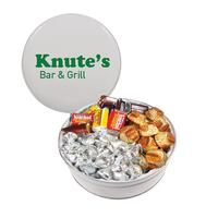 The Royal Tin with Hershey Kissis and Miniatures Chocolates