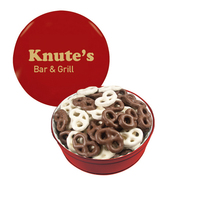 The Royal Tin with Chocolate Covered Mini Pretzels
