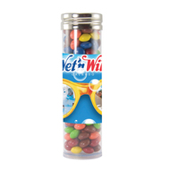 Large Gourmet Plastic Candy Tube with Chocolate Littles