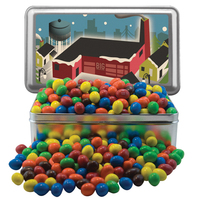 Large Rectangle Tin w/Plain & Peanut Compare to M&M(r) candy