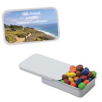 Slider Tin with Chocolate Littles Compare To M&M(r) Candy