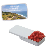 Slider Tin with Cinnamon Red Hots Candy