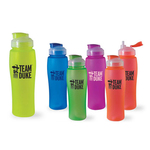 Neon Hydration Bottle with Retractable Straw