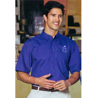 Men's Short Sleeve Cotton/Poly Easy Care Button Shirt Rx