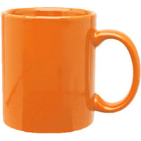 11oz Vitrified C-Handle Coffee Mug, spot color process
