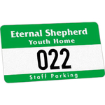 Durable Self-Sticking Outside Parking Permit