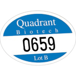 Oval White Reflective Outside Parking Permit Decal