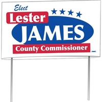 """Double Sided 24 Point Poster Board Yard Sign (21""""x34 1/2"""")"""