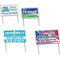 Double Sided 18 Point Poster Board Yard Sign 2 Colors (14