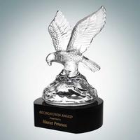 Soaring Eagle with Black Crystal Base Award