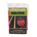 Safety Vest with 4 Color Process Custom Insert