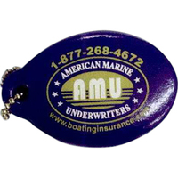 Vinyl-Coated Floating Key Tag - Fat Oval