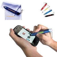 "Stylus Pen with Lens Cloth 4""X7"""