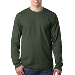 Adult Long Sleeve Tee with Pocket