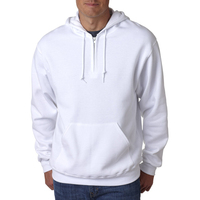 Adult NuBlend (R) 1/4-Zip Hooded Sweatshirt